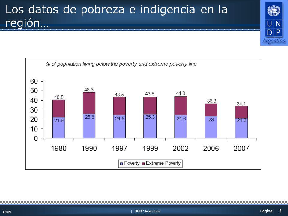 | UNDP Argentina ODM 7 7 Página Los datos de pobreza e indigencia en la región…