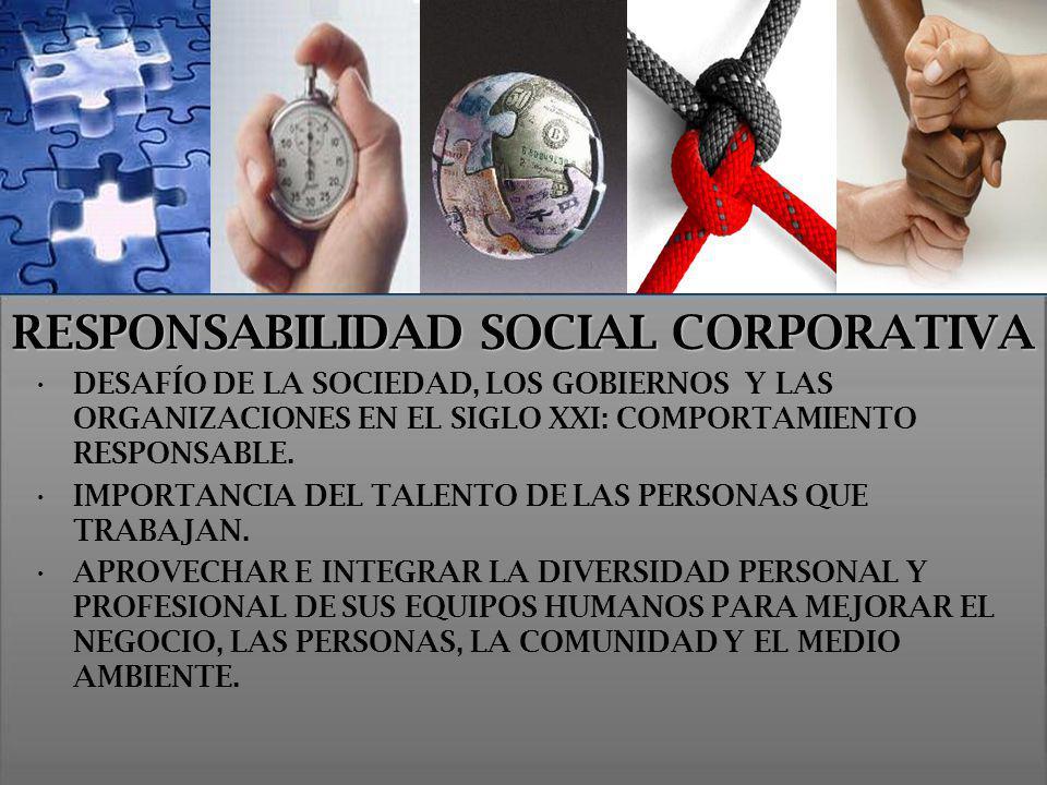RESPONSABILIDAD SOCIAL CORPORATIVA DESAFÍO DE LA SOCIEDAD, LOS GOBIERNOS Y LAS ORGANIZACIONES EN EL SIGLO XXI: COMPORTAMIENTO RESPONSABLE. IMPORTANCIA