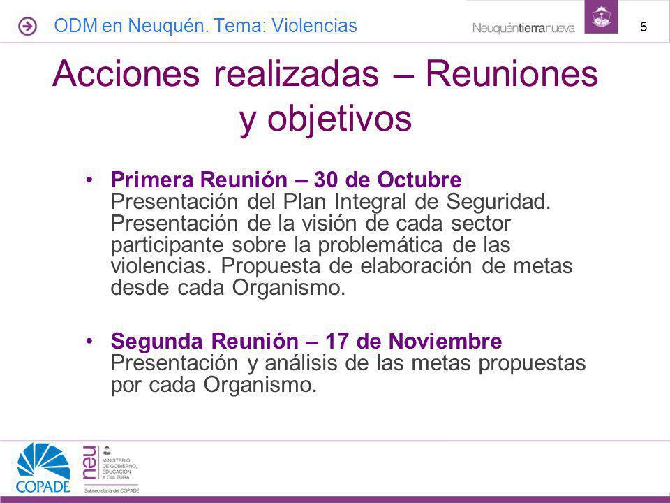 Primera Reunión – 30 de Octubre Presentación del Plan Integral de Seguridad.