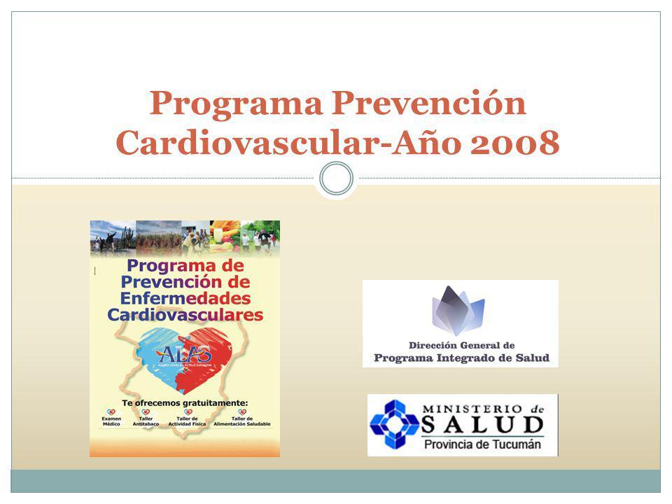 PROGRAMA DE PREVENCION CARDIOVASCULAR CAMPAÑA 1er.