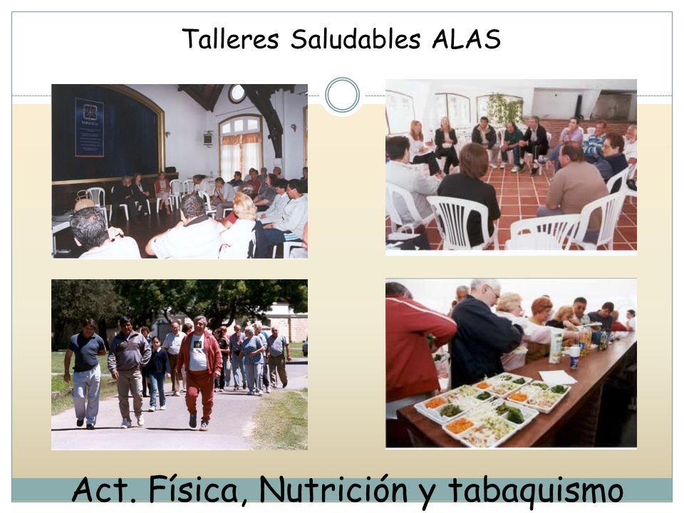 Act. Física, Nutrición y tabaquismo Talleres Saludables ALAS