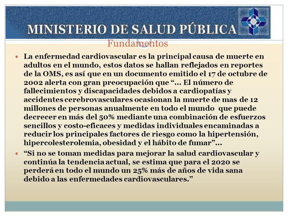 Programa de Prevención de enfermedades cardiovasculares El Ministerio de Salud Publica de la Provincia de Tucumán ha decidido proyectar e integrar acciones en todo el territorio de la provincia, desde el Primer Nivel de Atención, orientando las medidas de promoción de salud con apoyo a la prevención clínica.