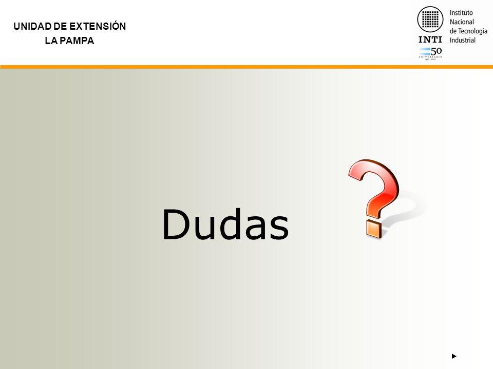 UNIDAD DE EXTENSIÓN LA PAMPA Dudas
