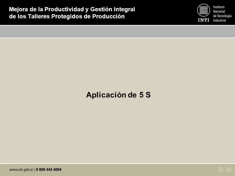 Mejora de la Productividad y Gestión Integral de los Talleres Protegidos de Producción Aplicación de 5 S