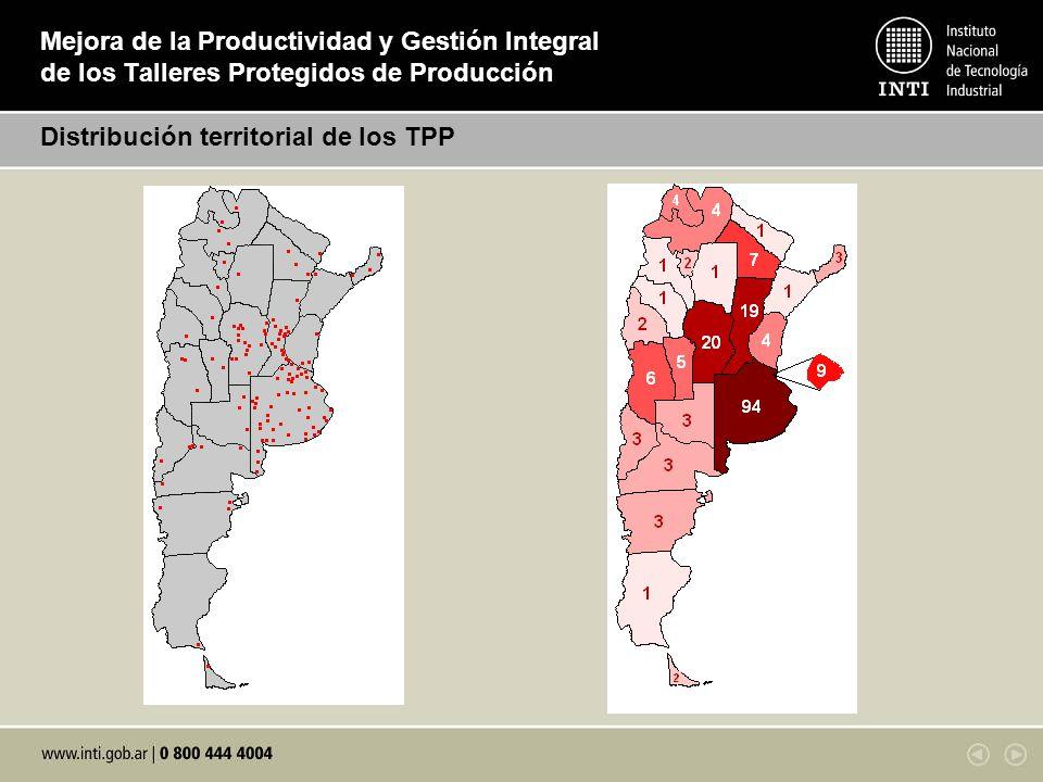Mejora de la Productividad y Gestión Integral de los Talleres Protegidos de Producción Distribución territorial de los TPP