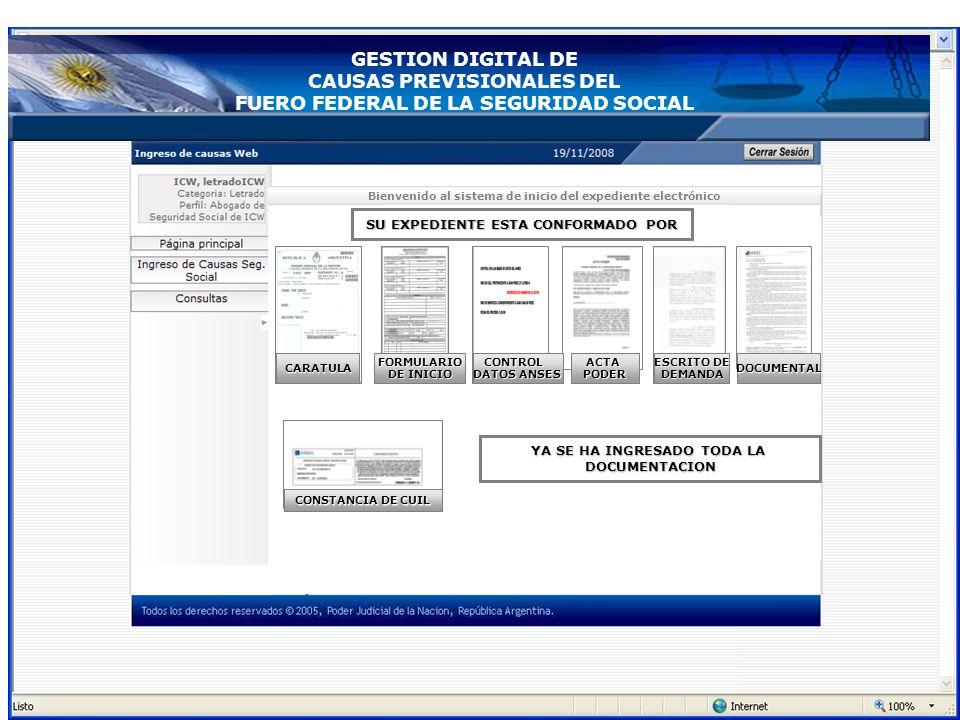 Bienvenido al sistema de inicio del expediente electrónico ACTAPODER CONSTANCIA DE CUIL SU EXPEDIENTE ESTA CONFORMADO POR FORMULARIO DE INICIO CONTROL
