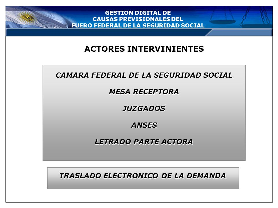 Bienvenido al sistema de inicio del expediente electrónico GESTION DIGITAL DE CAUSAS PREVISIONALES DEL FUERO FEDERAL DE LA SEGURIDAD SOCIAL LETRADO AC