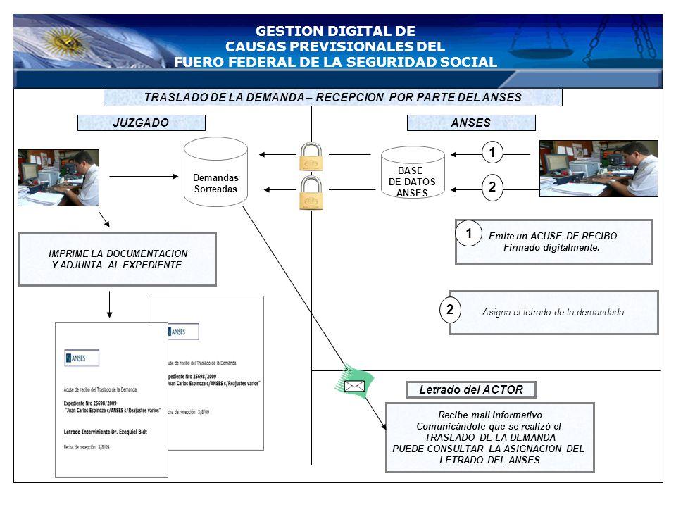 Bienvenido al sistema de inicio del expediente electrónico TRASLADO ELECTRONICO DE LA DEMANDA FORMULARIO DE INICIO CONTROL DATOS ANSES CARATULA ESCRIT