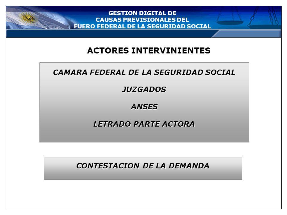 GESTION DIGITAL DE CAUSAS PREVISIONALES DEL FUERO FEDERAL DE LA SEGURIDAD SOCIAL TRASLADO ELECTRONICO DE LA DEMANDA ANSES LETRADOACTOR JUZGADO CONSULT