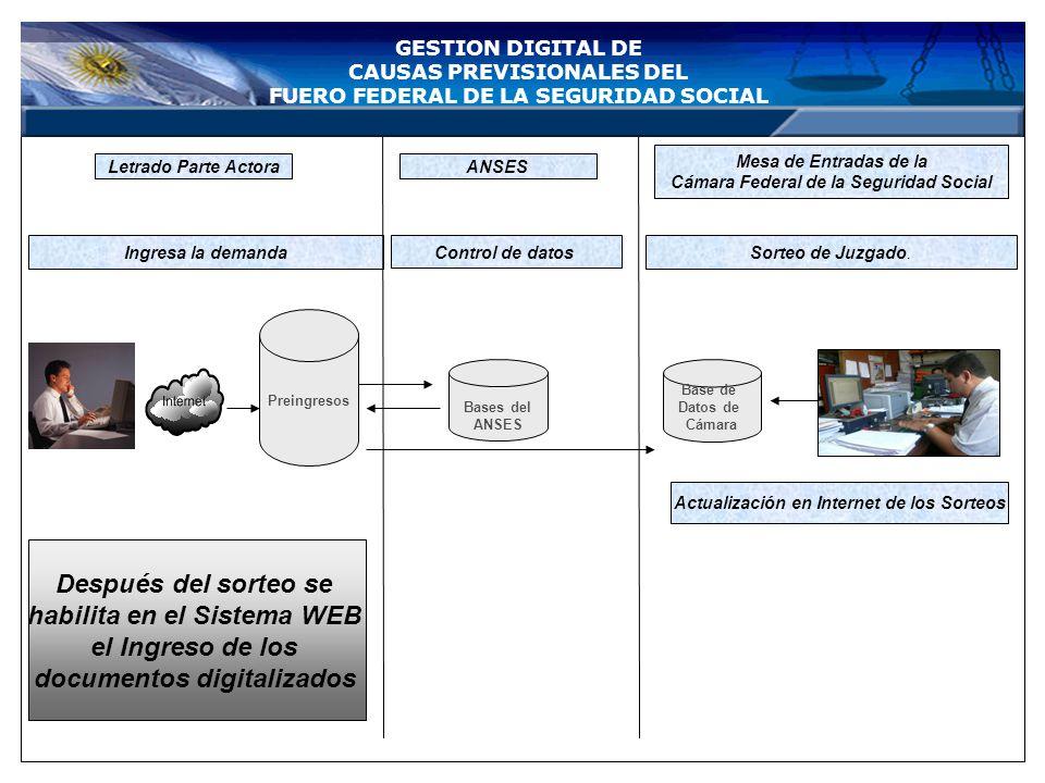 LETRADO INGRESO DE LA DOCUMENTACION DIGITALIZADA GESTION DIGITAL DE CAUSAS PREVISIONALES DEL FUERO FEDERAL DE LA SEGURIDAD SOCIAL