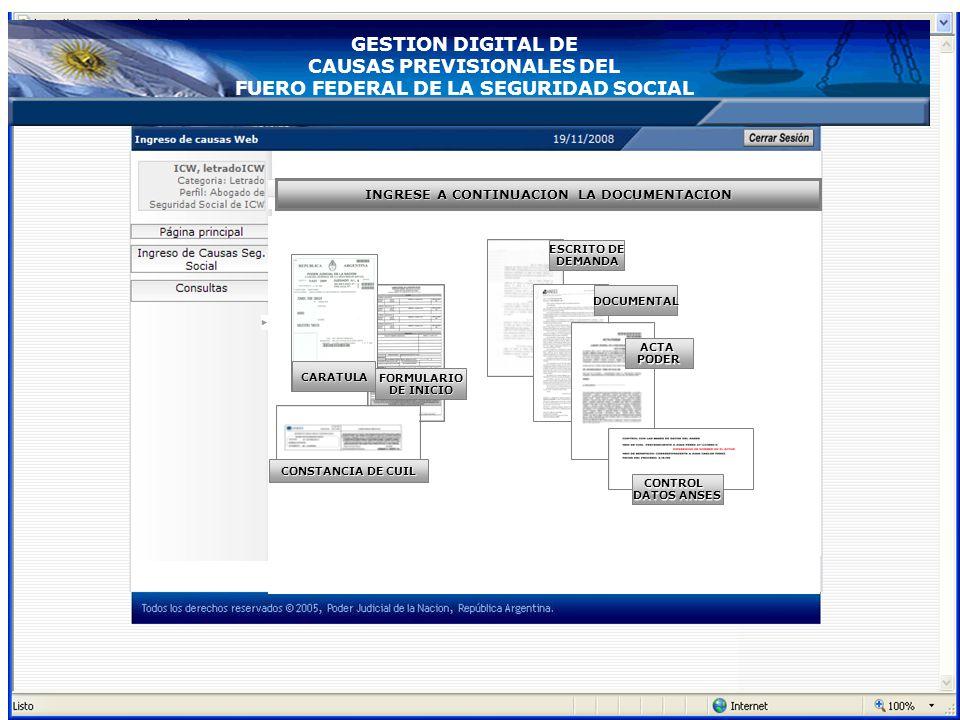 ANSES Bases del ANSES Control de datos Base de Datos de Cámara Mesa de Entradas de la Cámara Federal de la Seguridad Social Sorteo de Juzgado. Actuali