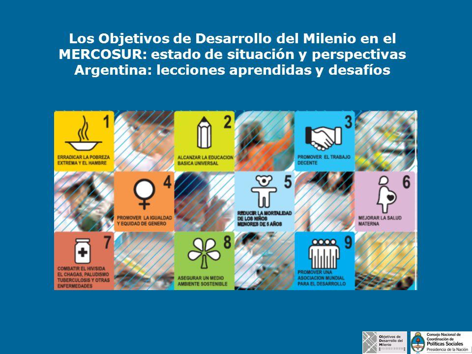 Los Objetivos de Desarrollo del Milenio en el MERCOSUR: estado de situación y perspectivas Argentina: lecciones aprendidas y desafíos