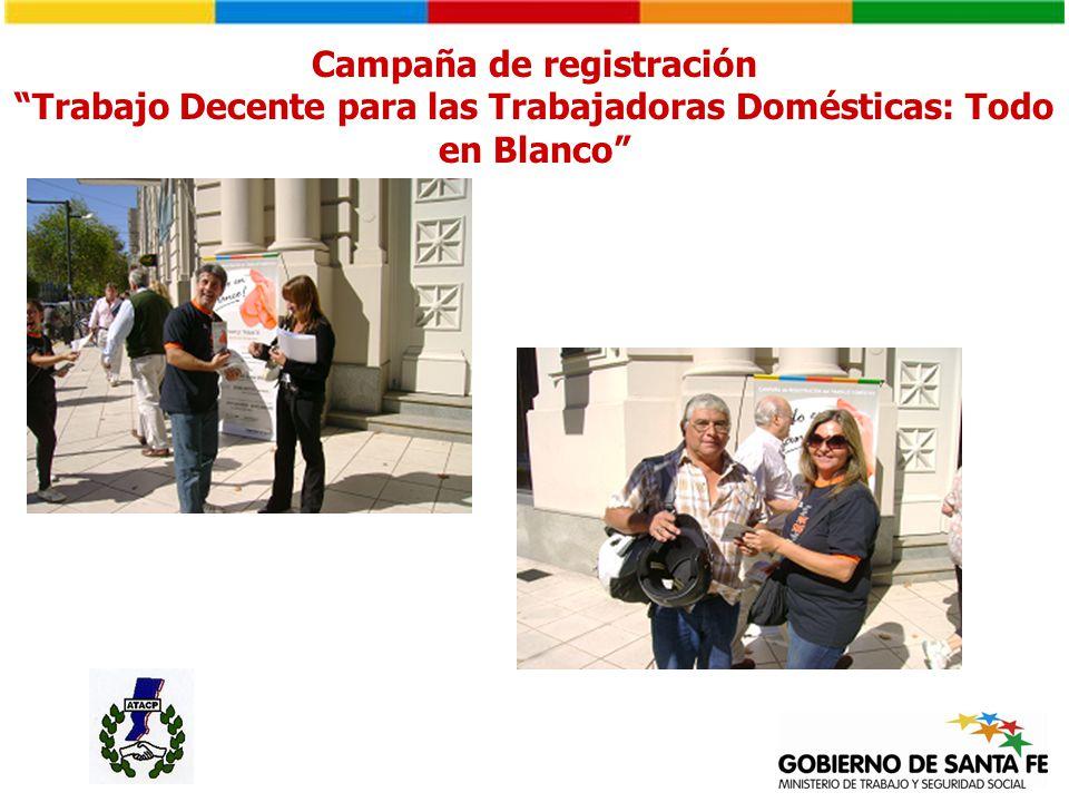 Campaña de registración Trabajo Decente para las Trabajadoras Domésticas: Todo en Blanco