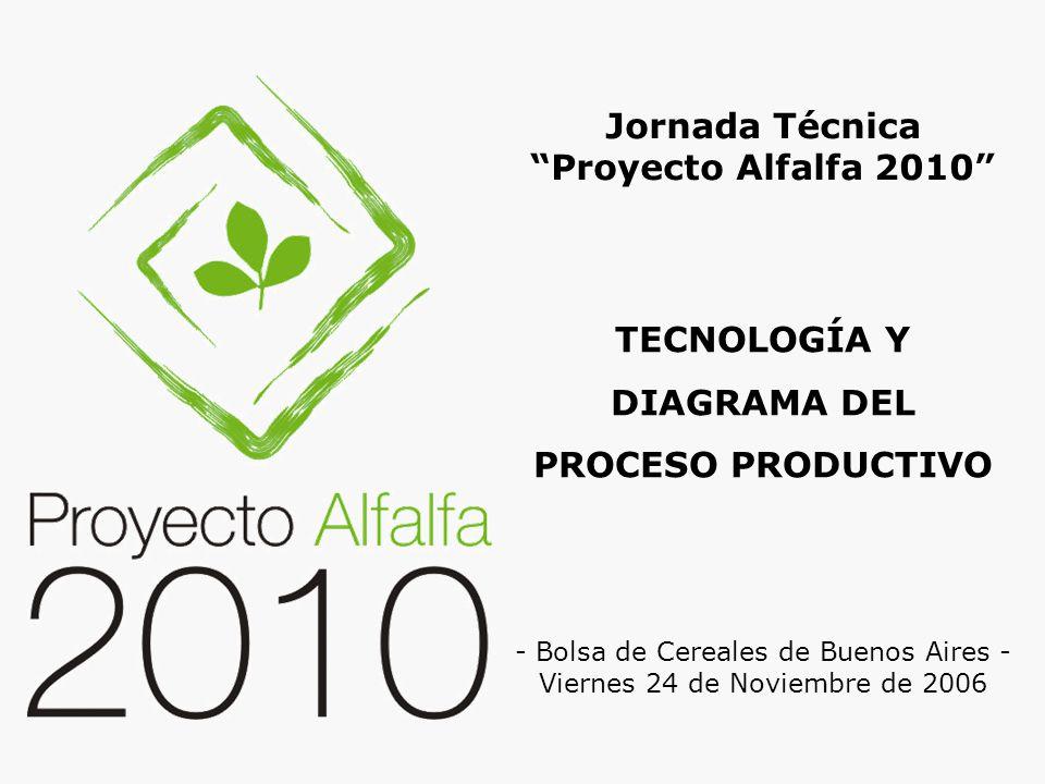 TECNOLOGÍA Y DIAGRAMA DEL PROCESO PRODUCTIVO Jornada Técnica Proyecto Alfalfa 2010 - Bolsa de Cereales de Buenos Aires - Viernes 24 de Noviembre de 2006