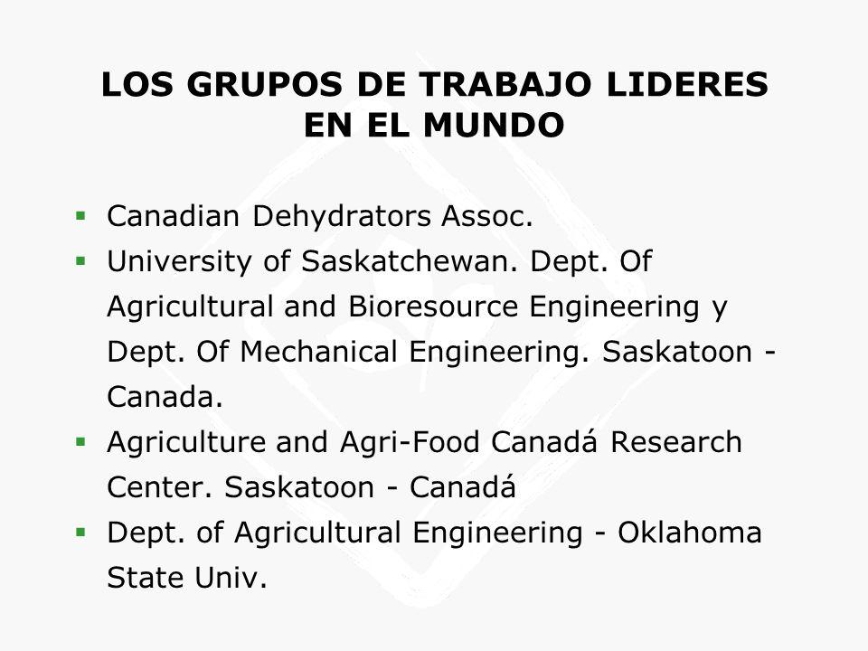 LOS GRUPOS DE TRABAJO LIDERES EN EL MUNDO Canadian Dehydrators Assoc.
