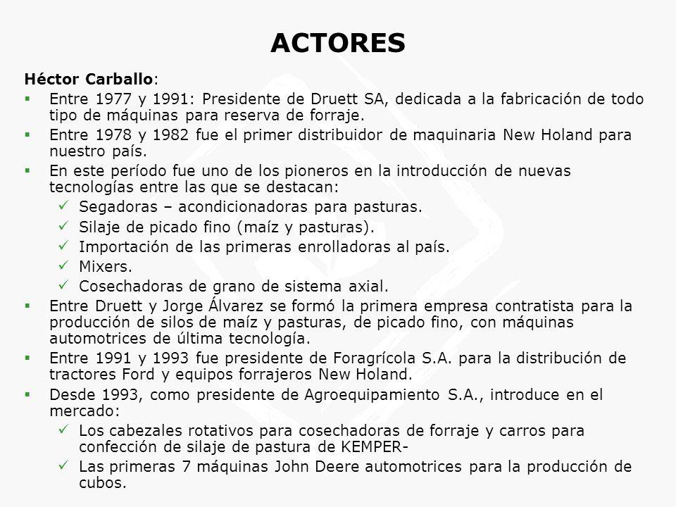 Héctor Carballo: Entre 1977 y 1991: Presidente de Druett SA, dedicada a la fabricación de todo tipo de máquinas para reserva de forraje. Entre 1978 y