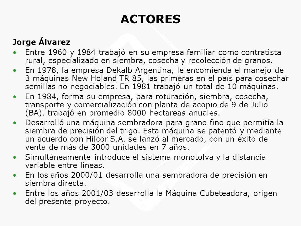 Jorge Álvarez Entre 1960 y 1984 trabajó en su empresa familiar como contratista rural, especializado en siembra, cosecha y recolección de granos. En 1