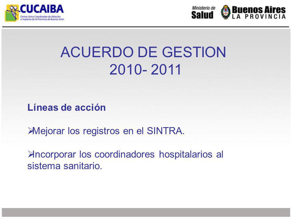 Líneas de acción Mejorar los registros en el SINTRA.