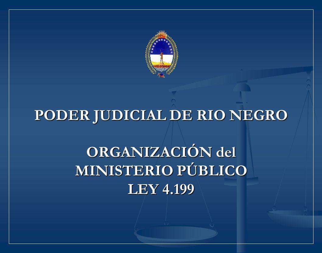 PODER JUDICIAL DE RIO NEGRO ORGANIZACIÓN del MINISTERIO PÚBLICO LEY 4.199