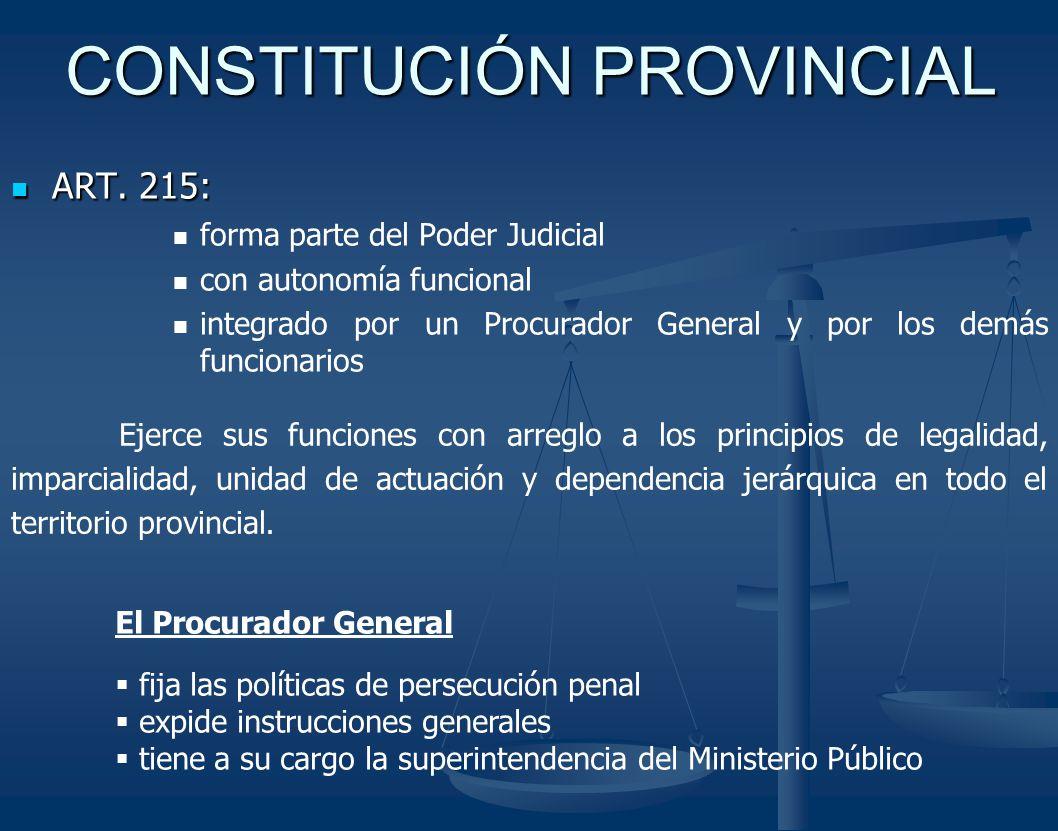 CONSTITUCIÓN PROVINCIAL ART.215: ART.