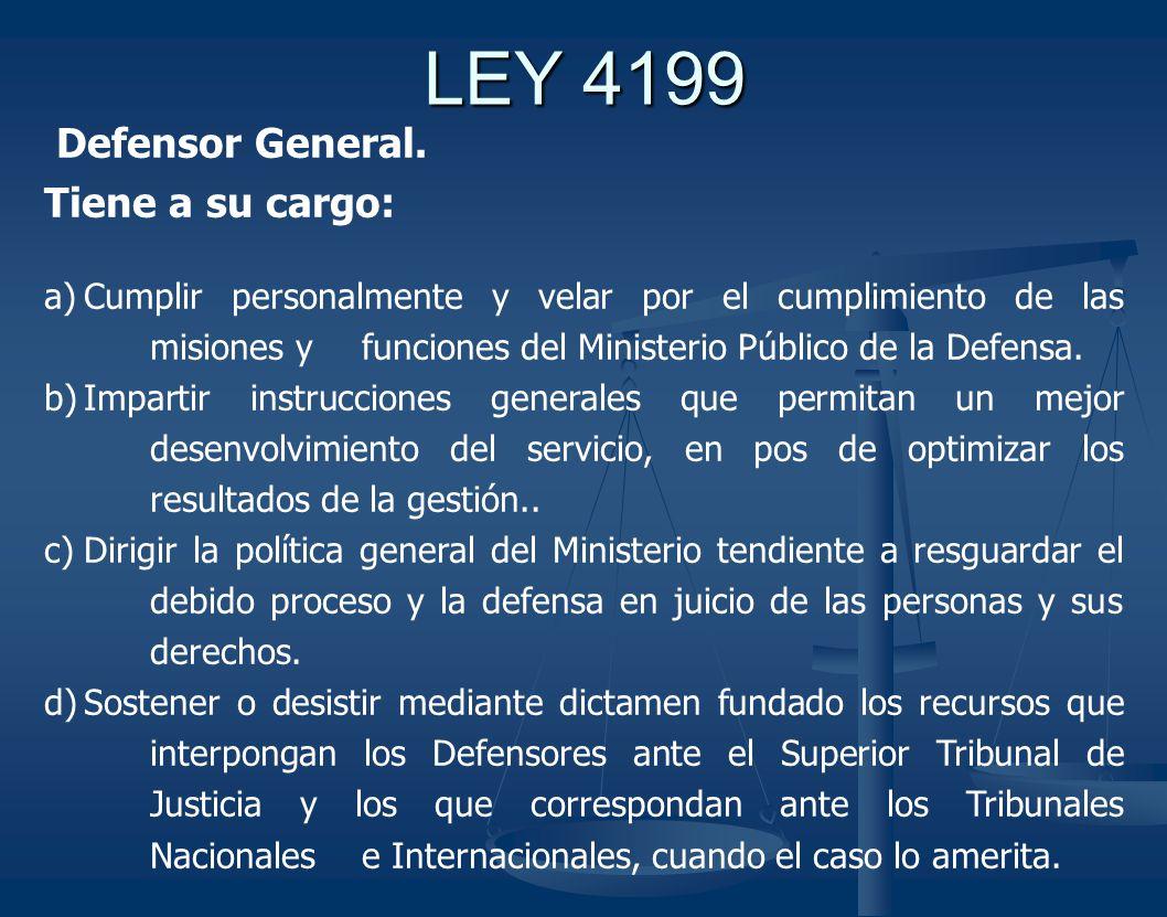 LEY 4199 Defensor General.