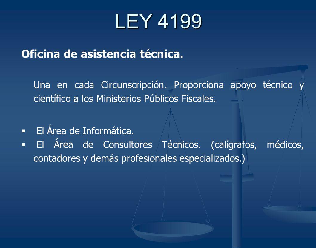 LEY 4199 Oficina de asistencia técnica.Una en cada Circunscripción.