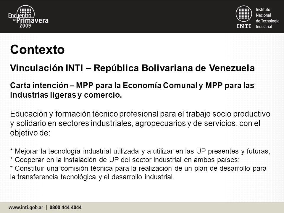Carta intención – MPP para la Economía Comunal y MPP para las Industrias ligeras y comercio.