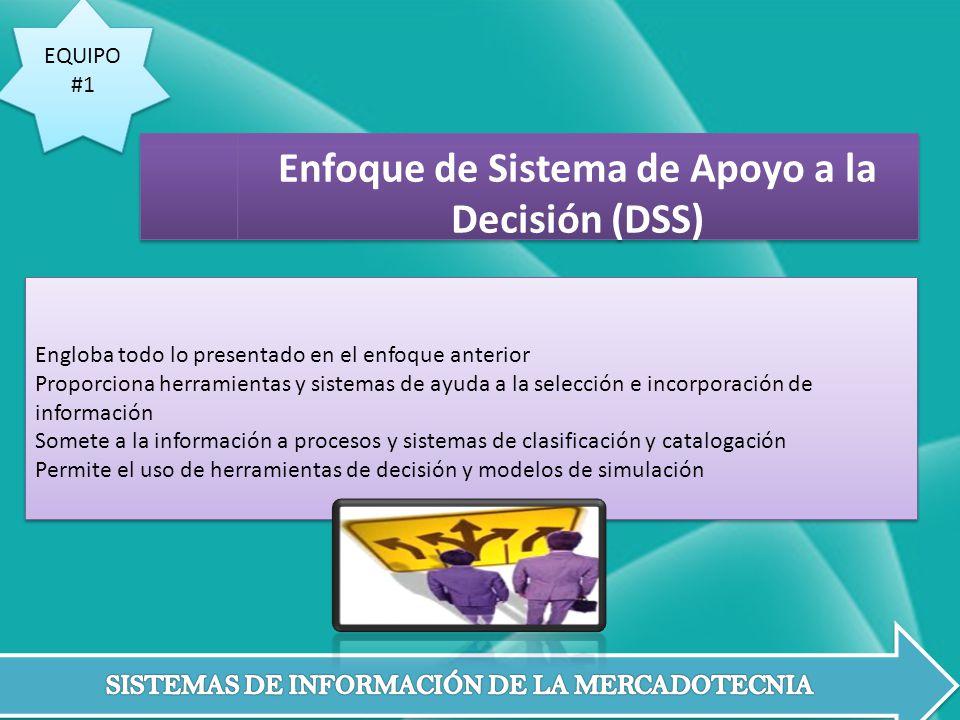 EQUIPO #1 EQUIPO #1 Engloba todo lo presentado en el enfoque anterior Proporciona herramientas y sistemas de ayuda a la selección e incorporación de i