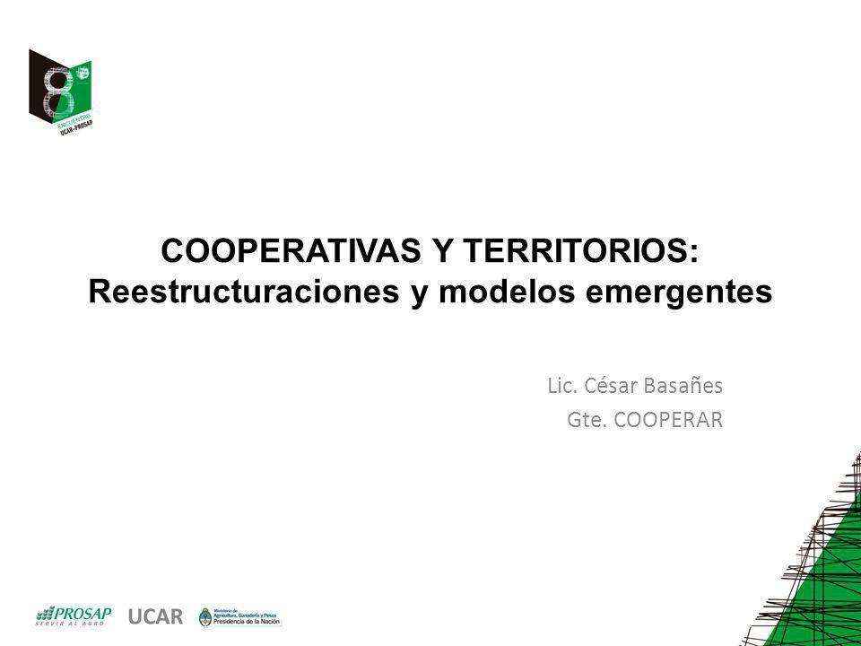COOPERATIVAS Y TERRITORIOS: Reestructuraciones y modelos emergentes Lic.