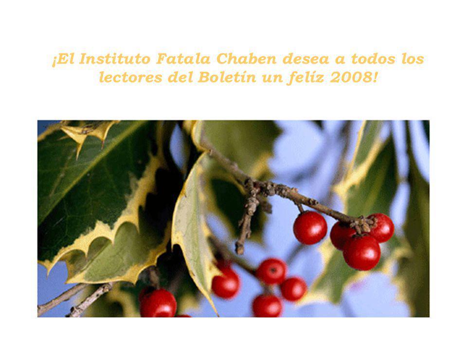 ¡El Instituto Fatala Chaben desea a todos los lectores del Boletín un felíz 2008!
