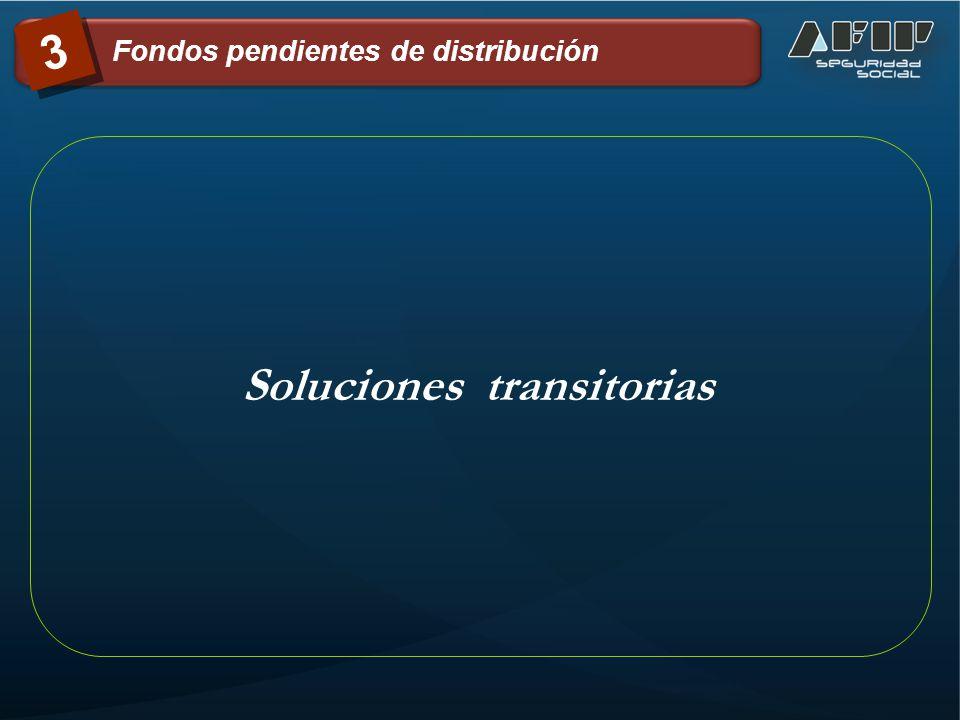 Soluciones transitorias 3 Fondos pendientes de distribución