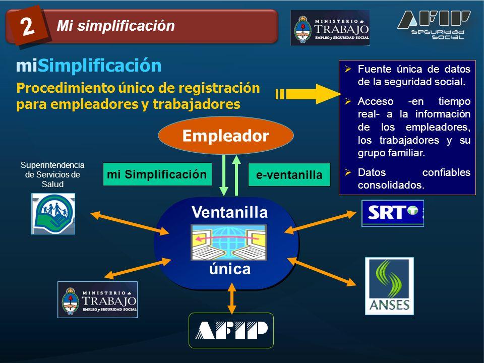 Procedimiento único de registración vía web con clave fiscal..