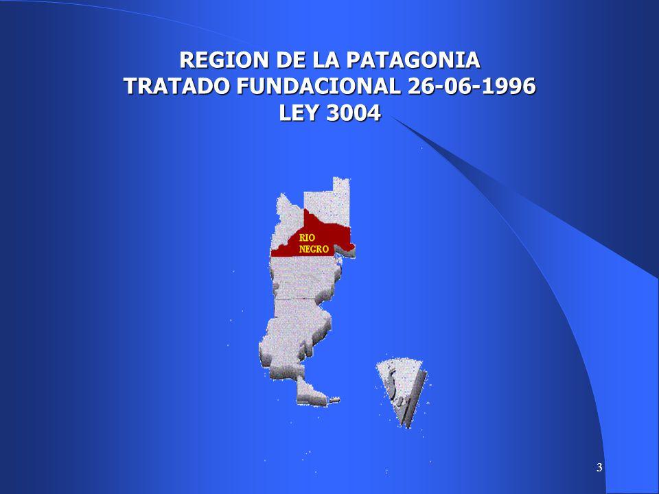3 REGION DE LA PATAGONIA TRATADO FUNDACIONAL 26-06-1996 LEY 3004
