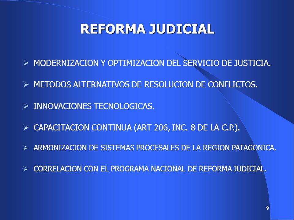 8 ORGANISMOS JUDICIALES SUPERIOR TRIBUNAL DE JUSTICIA (3 JUECES). CÁMARAS CIVILES, EN LO CONT. ADM., EN LO CRIMINAL Y DEL TRABAJO. JUZGADOS LETRADOS E