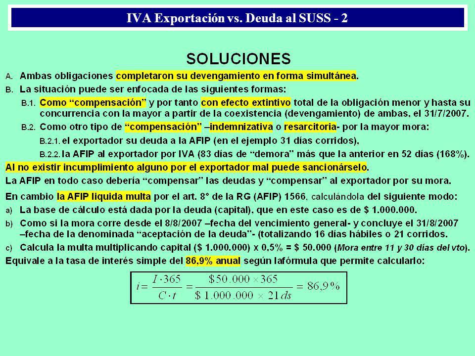 IVA Exportación vs. Deuda al SUSS - 2