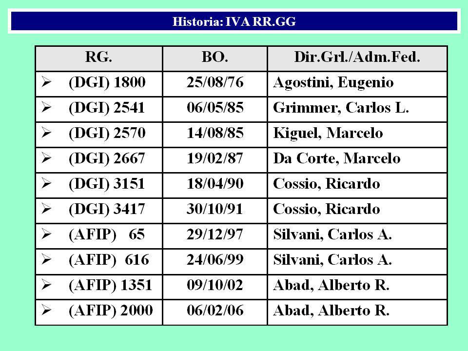 Historia: IVA RR.GG