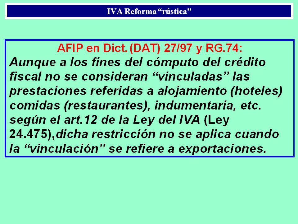IVA Reforma rústica