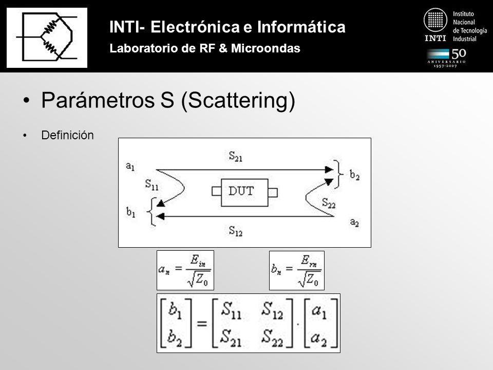 INTI- Electrónica e Informática Laboratorio de RF & Microondas VNA (Vector Network Analyzer)