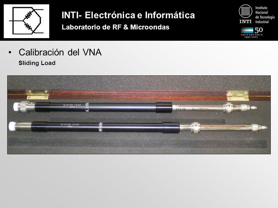 INTI- Electrónica e Informática Laboratorio de RF & Microondas Calibración del VNA Sliding Load – Principio de funcionamiento