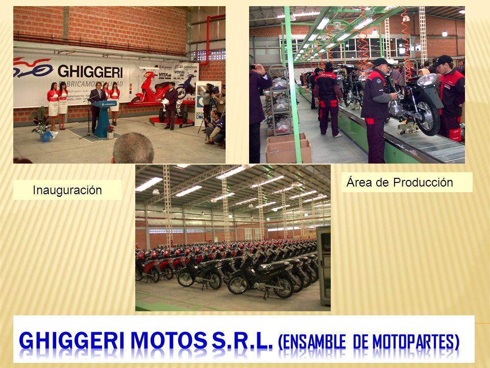 Inauguración Área de Producción