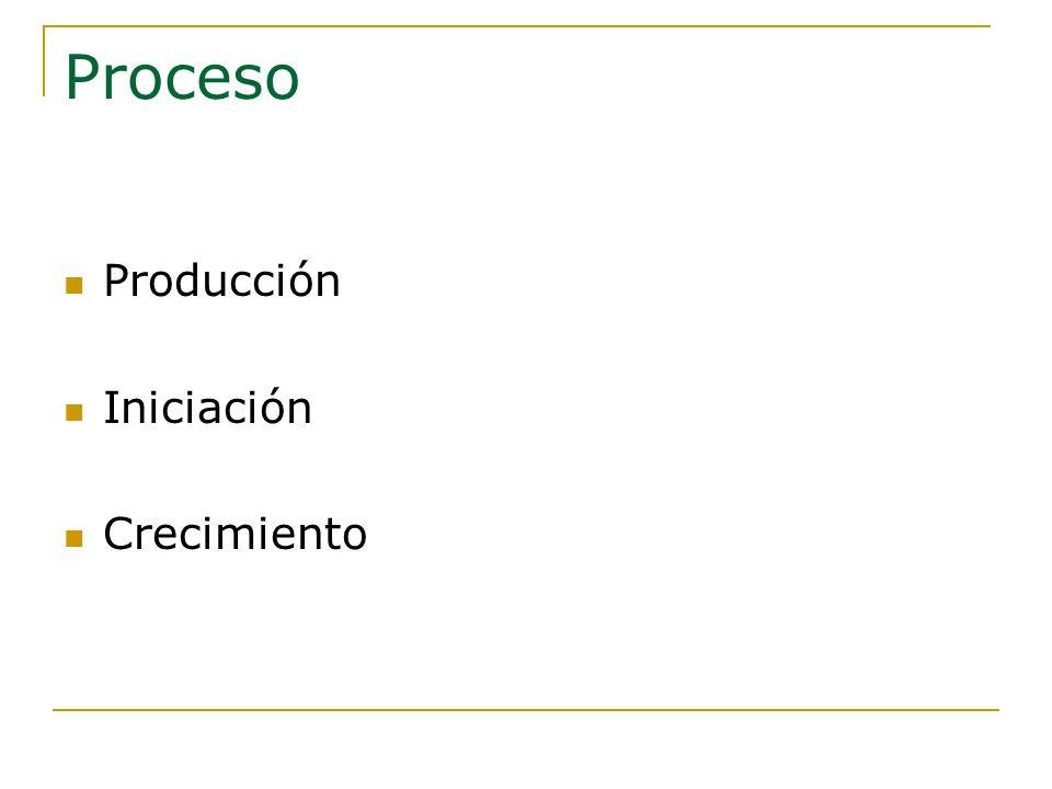 Proceso Producción Iniciación Crecimiento
