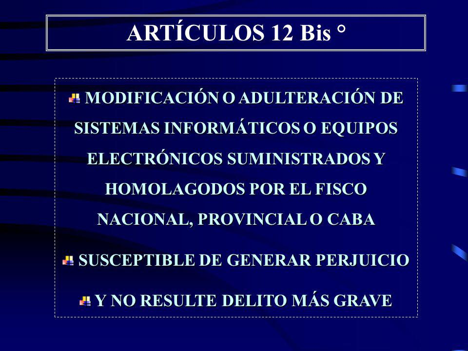 ARTÍCULOS 10°, 11°, 12° Se incluyen Regímenes Provinciales y de la CABA 10° INSOLVENCIA FISCAl FRAUDULENTA 11° SIMULACIÓN DOLOSA DE PAGO 12° ALTERACION DOLOSA DE REGISTROS