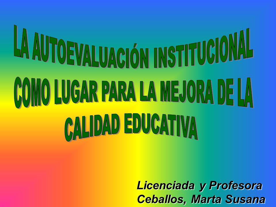 Licenciada y Profesora Ceballos, Marta Susana