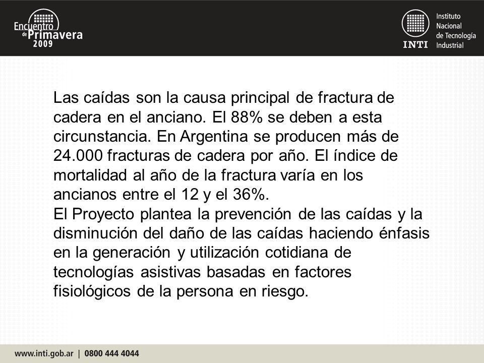 Las caídas son la causa principal de fractura de cadera en el anciano. El 88% se deben a esta circunstancia. En Argentina se producen más de 24.000 fr
