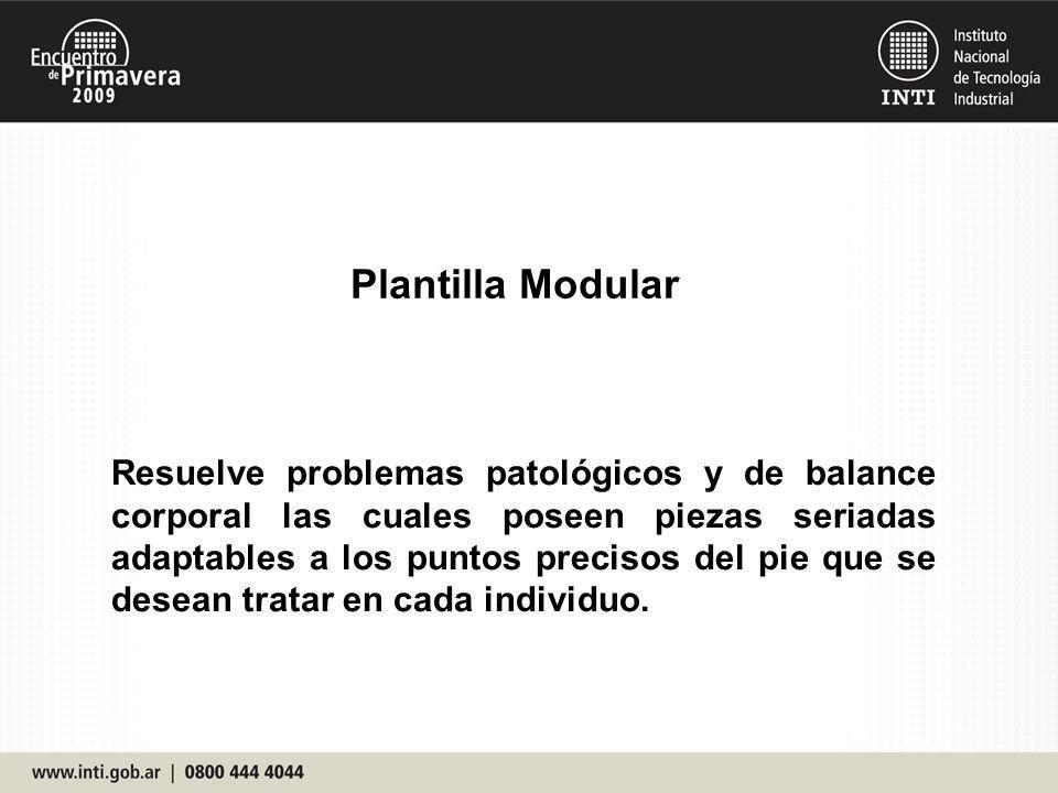 Plantilla Modular Resuelve problemas patológicos y de balance corporal las cuales poseen piezas seriadas adaptables a los puntos precisos del pie que