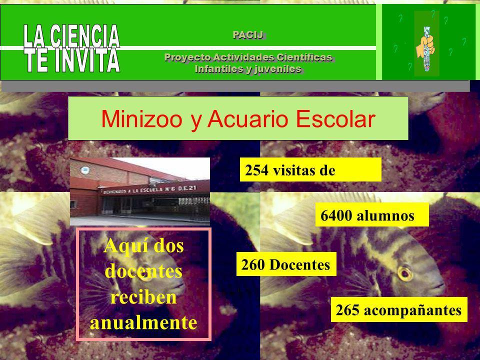 PACIJ Proyecto Actividades Científicas Infantiles y juveniles PACIJ Proyecto Actividades Científicas Infantiles y juveniles Minizoo y Acuario Escolar