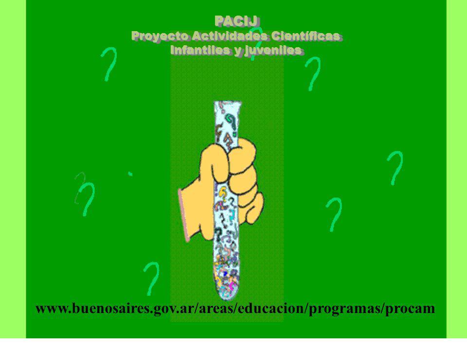 PACIJ Proyecto Actividades Científicas Infantiles y juveniles www.buenosaires.gov.ar/areas/educacion/programas/procam