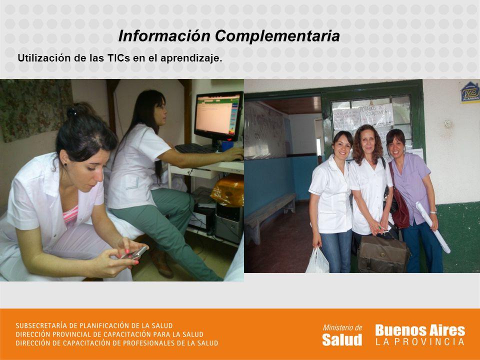 Utilización de las TICs en el aprendizaje. Información Complementaria Incluir todo aquello que permita al aspirante formar su idea de la residencia, p