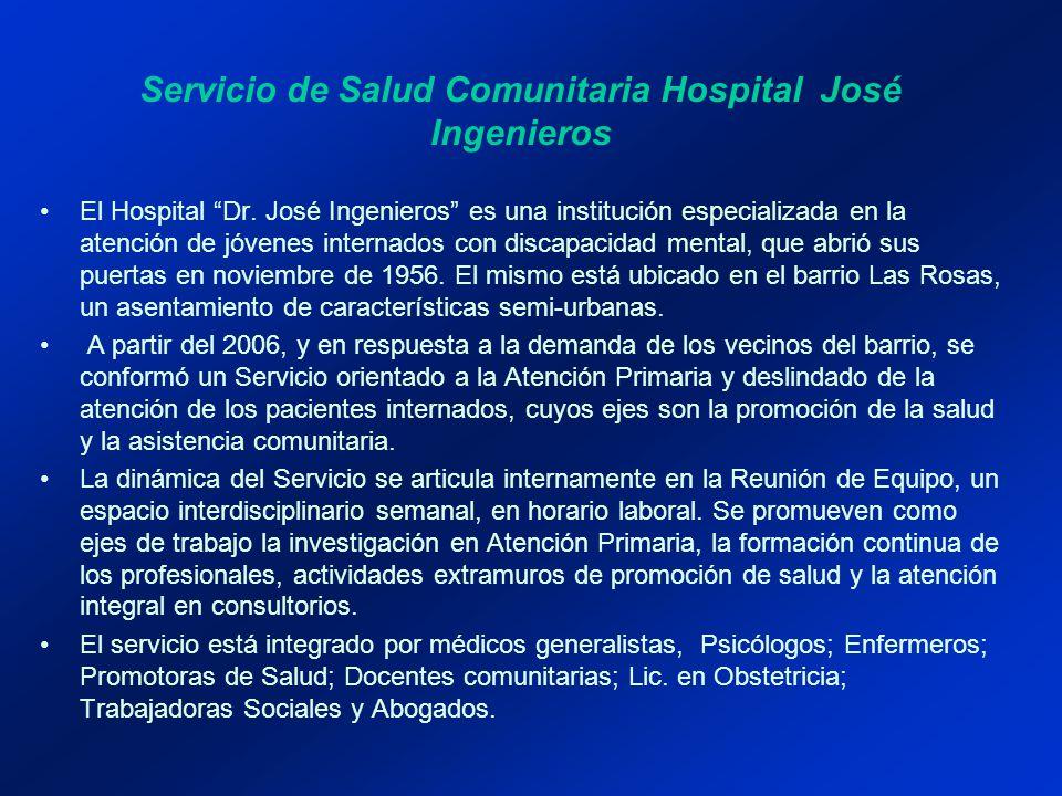 El Hospital Dr. José Ingenieros es una institución especializada en la atención de jóvenes internados con discapacidad mental, que abrió sus puertas e