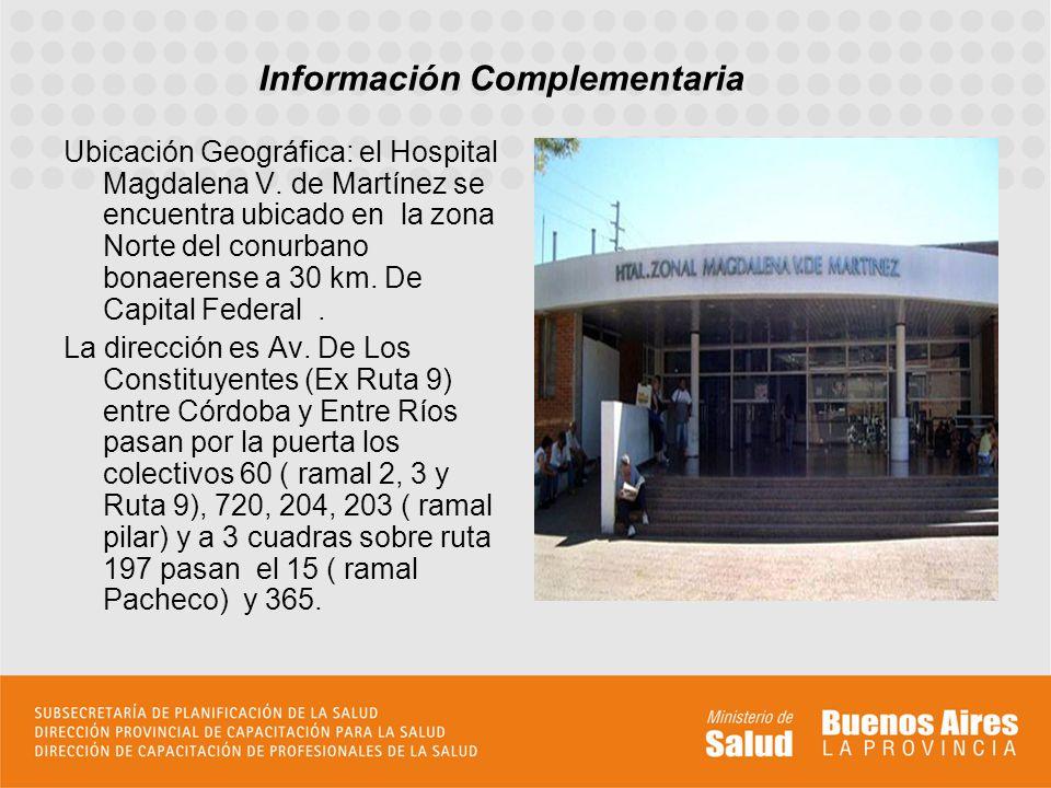 Ubicación Geográfica: el Hospital Magdalena V.